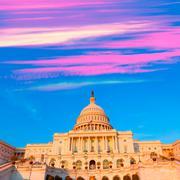 Capitol building Washington DC US congress Stock Photos