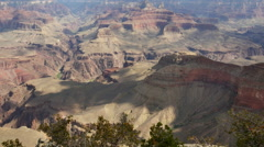 4K Grand Canyon South Rim Dolly 09 Yavapai Point Stock Footage