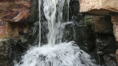 Waterfall patting on rocks Stock Footage