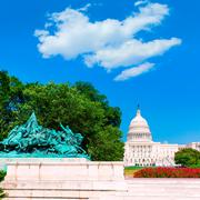 Stock Photo of Capitol building Washington DC sunlight congress