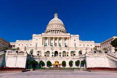 Stock Photo of Capitol building Washington DC sunlight day US