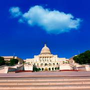 Stock Photo of Capitol building Washington DC sunlight day US