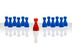 Business concept leadership forward red blue gradient Stock Photos