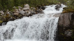 Majestic serene waterfall in northern wilderness Stock Footage