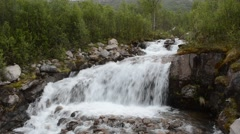 majestic serene waterfall in northern wilderness - stock footage
