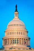 Capitol building dome Washington DC US congress Stock Photos