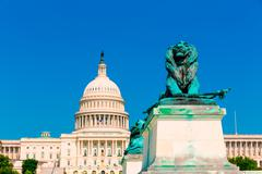 Capitol building Washington DC sunlight congress - stock photo
