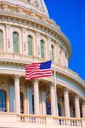 Capitol building Washington DC american flag USA Stock Photos