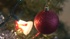 4K Christmas Decoration and Ornaments Rotating - stock footage