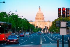 Capitol sunset congress Washington DC Stock Photos