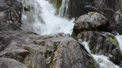 Fresh clean mountain waterfall Stock Footage