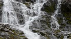 Majestic mountain waterfall Stock Footage