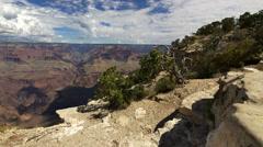 4K Grand Canyon South Rim Dolly 12 Yavapai Point Stock Footage