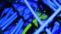 Ethernet server with UTP cables Stock Footage