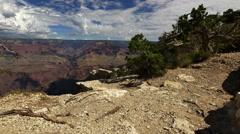 4K Grand Canyon South Rim Dolly 13 Yavapai Point Stock Footage