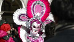 Scary carnival mask in Venice Stock Footage