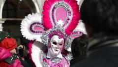 Scary carnival mask in Venice Arkistovideo