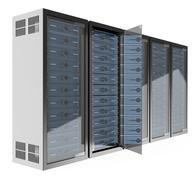 3D Communications rack - stock illustration