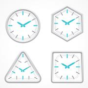 clock with different shape - stock illustration
