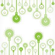 Green bulb background stock vector Stock Illustration
