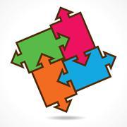 creative color puzzle design background stock vector - stock illustration