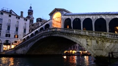 Rialto Bridge, Venice, Italy. - stock footage