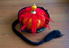 Ethnic headwear of the Tatar khan - stock photo