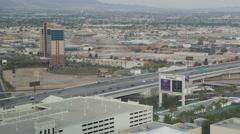 4K Highway Cityscape Las Vegas Nevada Stock Footage