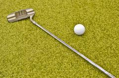 Mini golf inside interior Stock Photos
