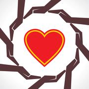 Protect human heart concept-vector illustration Stock Illustration