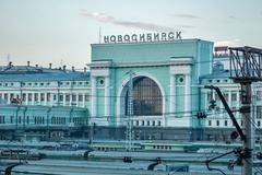 Novosibirsk railway station - stock photo