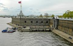 Fort in peter and paul fortress - stock photo