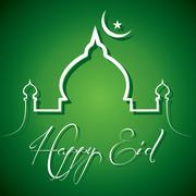 Stock Illustration of Retro calligraphy of text happy eid - vector illustration