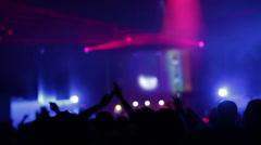 Dancing crowd Stock Footage