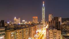 Taipei timeslapse, day to night Stock Footage