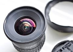 Lens with a cap and blend Stock Photos