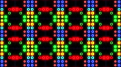 Led Wall Colorful Pattern - stock footage