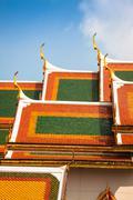 Stock Photo of Roof of Wat Phra Kaew, Temple of the Emerald Buddha, Bangkok, Thailand.