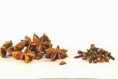Star anis and clove Stock Photos