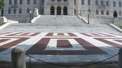 RI State Capital Floor Tilt Up Stock Footage