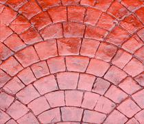 Red cobble - stock photo