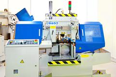 Automatic band saw Stock Photos