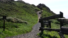 Point Reyes National Park, hiking trailhead Stock Footage