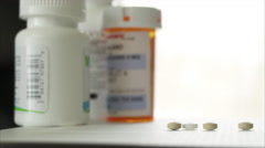 Pan of Meds in 4K (5 of 5) Stock Footage