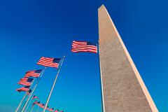 Washington Monument in District of Columbia DC - stock photo