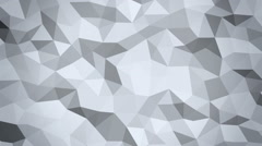 Abstract 3d geometric faceted background animation - stock footage