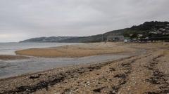 Charmouth shingle beach Dorset England uk Stock Footage