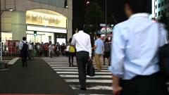 TOKYO - People crossing at Night - Shinjuku Stock Footage