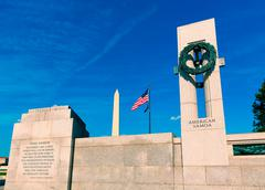 Stock Photo of World War II Memorial in washington DC USA at National Mall
