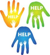 Helping Hands Concept Stock Illustration